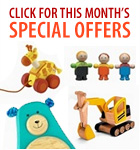 Click here for this month's special offers from Wonder Wood Toys