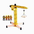 Pintoy Construction Crane with Construction Workers